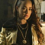 Tv series Curfew Rose Williams Golden Leather Jacket
