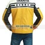 Yamaha Yellow Bike Riding Leather Jacket