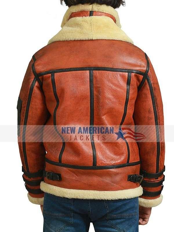 Aviator Flying Bomber Leather Jacket