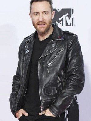 25th MTV Europe Music Awards David Guetta Leather Jacket