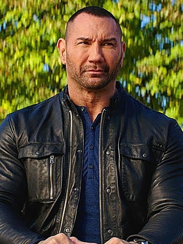 Dave Bautista My Spy JJ Black Jacket