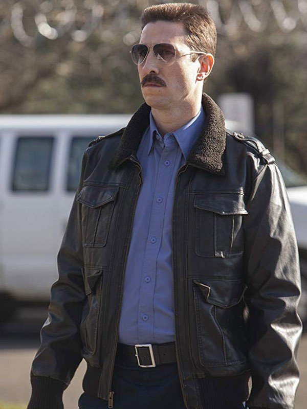 George 'Pornstache' Mendez Leather Jacket with Fur