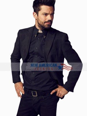 Preacher Dominic Cooper Slim Fit Suit Blazer Coat