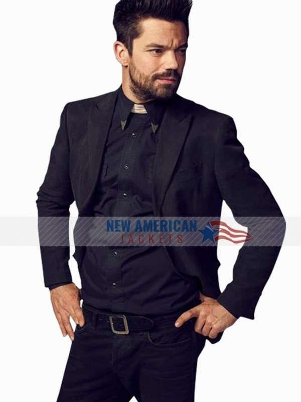 Jesse Custer Preacher Dominic Cooper Suit Blazer Jacket