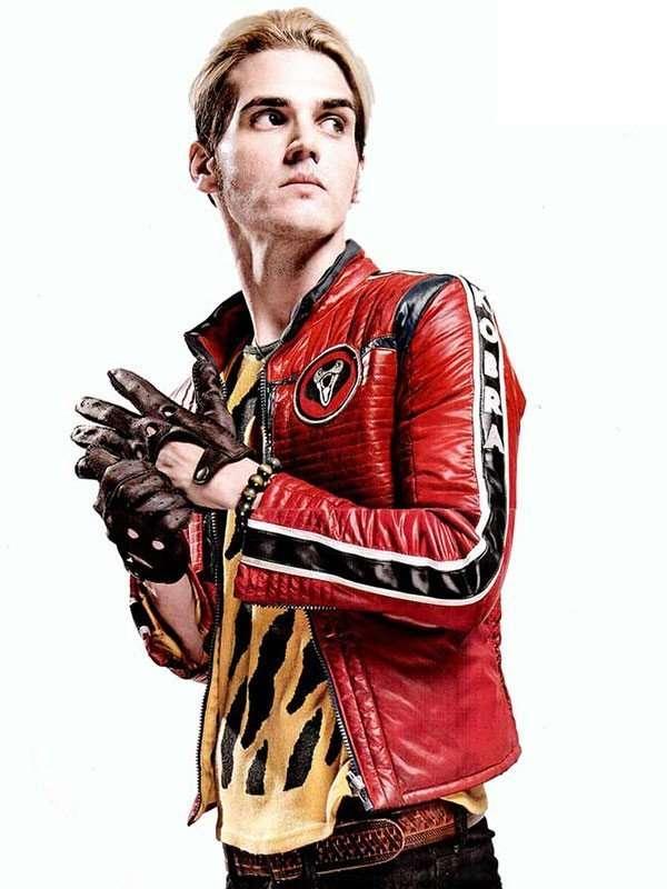 Kobra Kid Mikey Way Red Leather Jacket