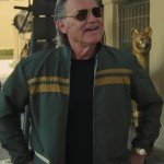 Once Upon a Time in Hollywood Kurt Russel Green Jacket with Yellow Stripes