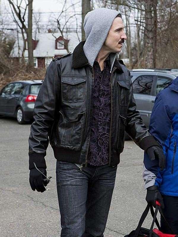 Pablo Schreiber Brown Leather Jacket