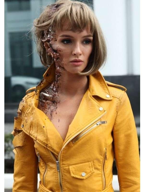 Paulina Andreeva Better Than Us Arisa Leather Jacket