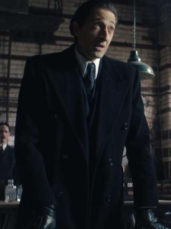 Peaky Blinders Adrien Brody Black Trench Coat