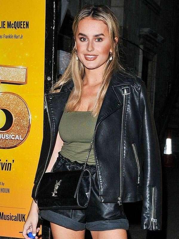 Savoy Theatre Amber Davies Leather Jacket