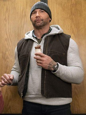 My Spy Dave Bautista Brown Vest