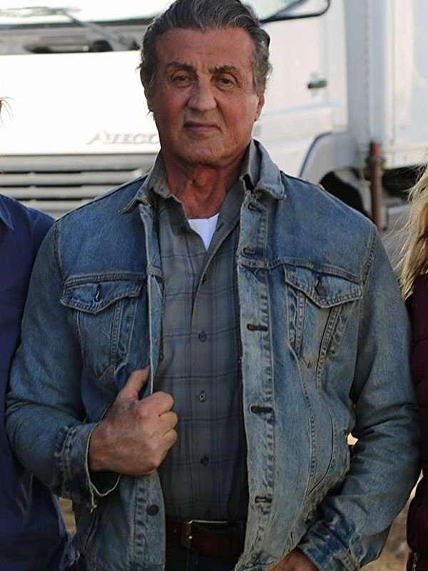 Sylvester Stallone Blue Denim Jacket