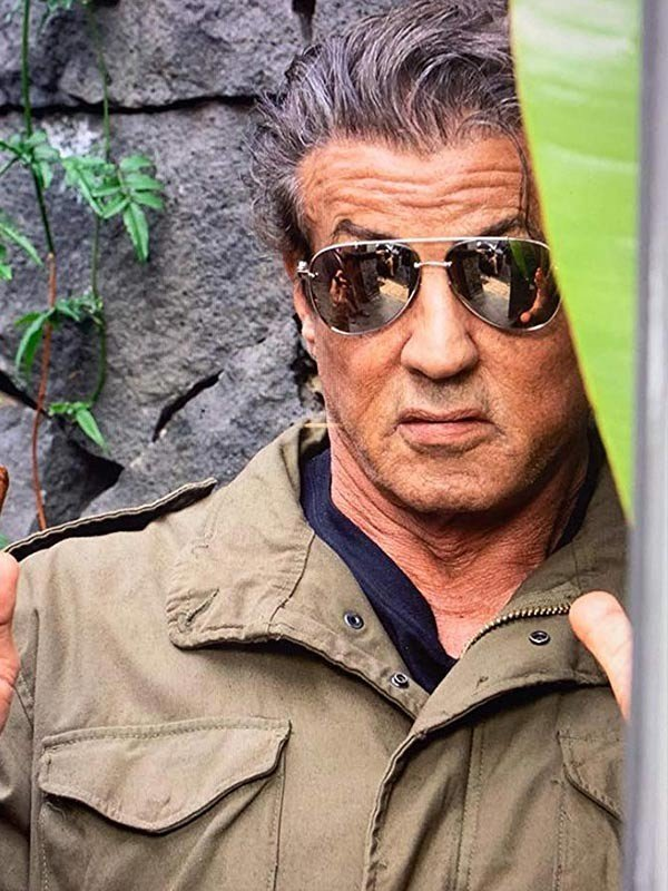 Sylvester Stallone Green Jacket