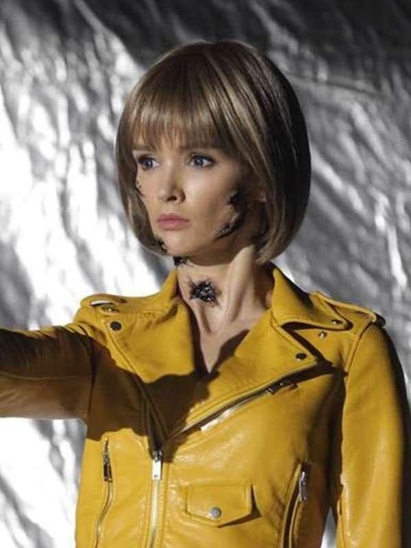Women's Yellow Biker Leather Jacket