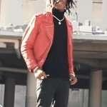 YNW Melly Freddy Krueger Red Leather Jacket