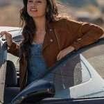 Yvette Monreal Rambo 5 Gabrielle Leather Jacket
