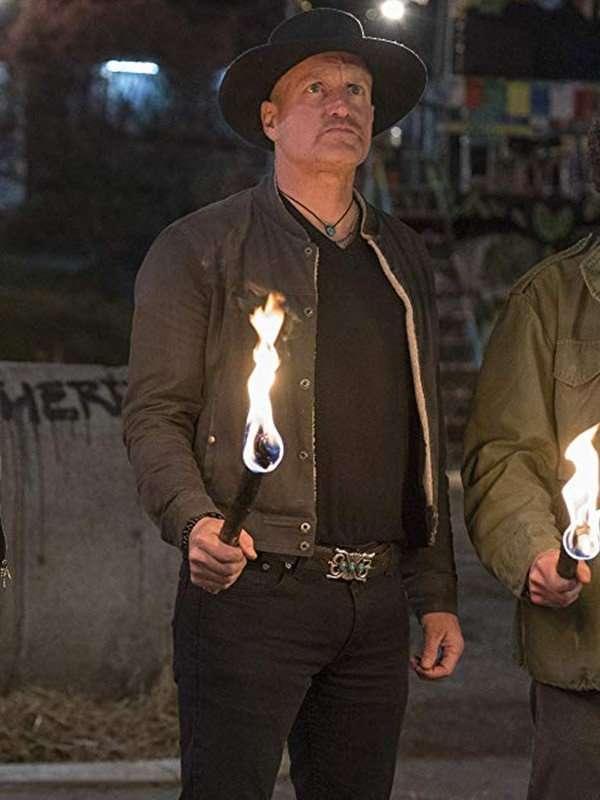 Zombieland Double Tap Woody Harrelson Black Jacket