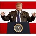 U.S. President Donald Trump addresses members of U.S. military services and Japan Self-Defense Force (JSDF) at U.S. Air Force Yokota Air Base in Fussa