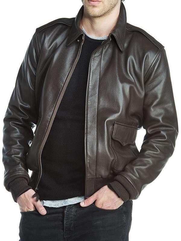 A2 Flight Bomber Leather Jacket
