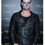 Adam Lambert halloween party Black leather Jacket