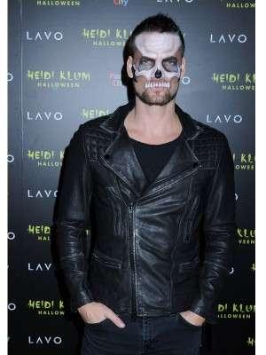 American singer-songwriter Adam Lambert Halloween Party Leather Jacket