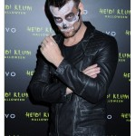 Adam Lambert halloween party leather Jacket