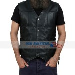 Angel Wing Leather Vest