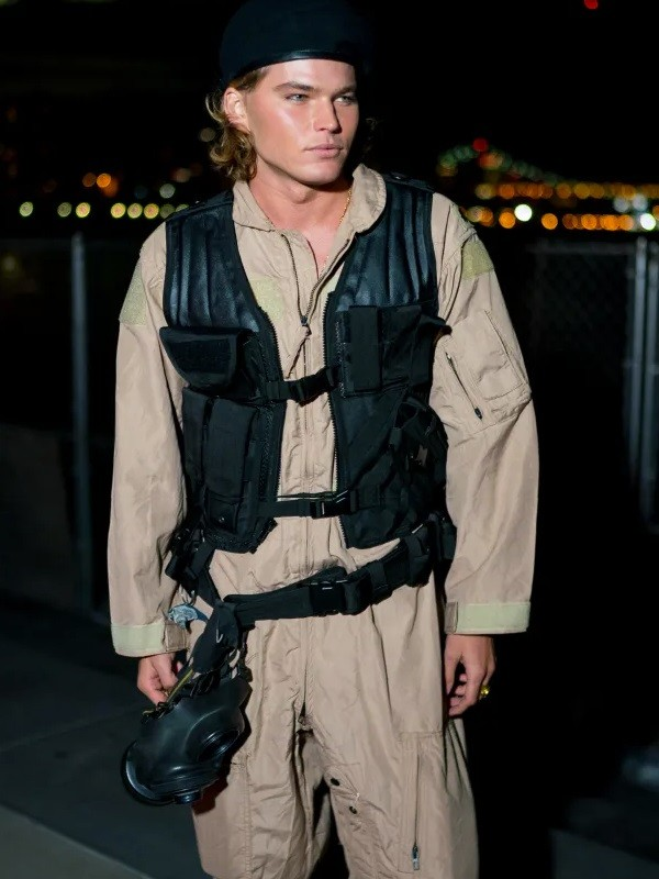Australian model Jordan Barrett Halloween Party New York City Vest