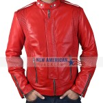 Daft Punk Orange Leather Jacket