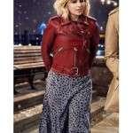 Emilia Clarke Last Christmas Kate Red Leather Jacket