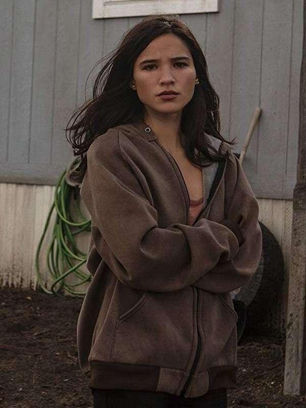 Kelsey Asbille Brown Hooded Jacket
