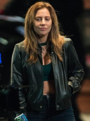 A Star Is Born Ally Singer Lady Gaga Leather Jacket