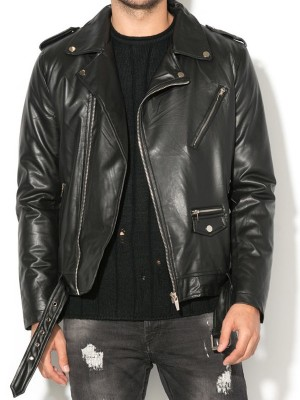 Men Classic Brando Biker Jacket