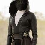 Regina King Watchmen Black Leather Hooded Coat