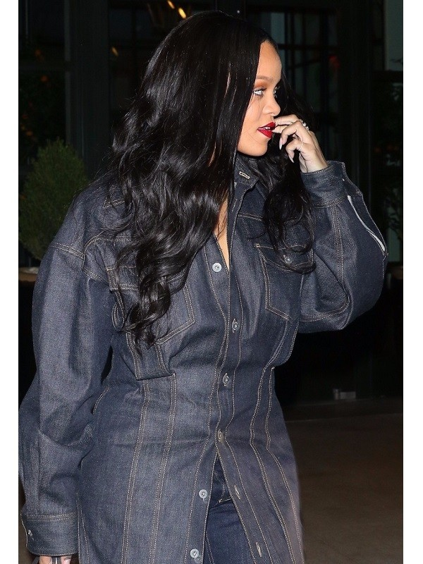 Rihanna Best Style Moments denim jeans jacket