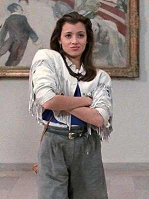 Ferris Bueller's Day Off Mia Sara Sloane Peterson Fringe Jacket