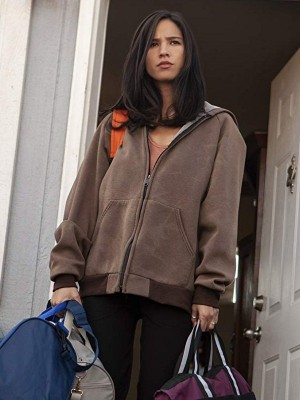 Kelsey Asbille Brown Hooded Jacket