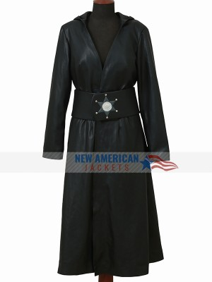 Angela Abar Watchmen Leather Hoodie Coat