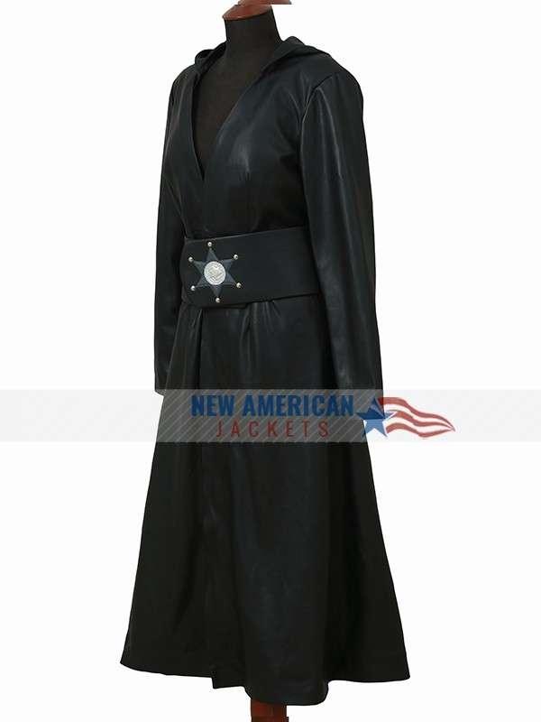 Watchmen Black Leather Coat