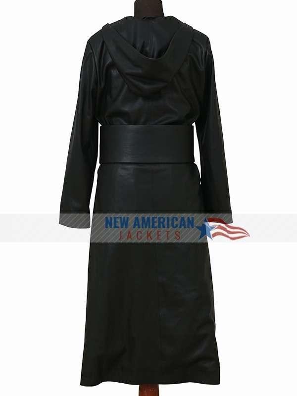 Watchmen Regina King Leather Hooded Coat