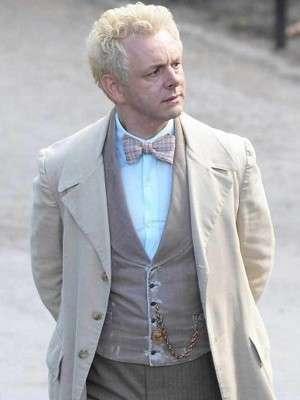 Fantasy Series Good Omens Aziraphale Michael Sheen Cotton Coat