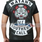 mayans mc leather vest with patches