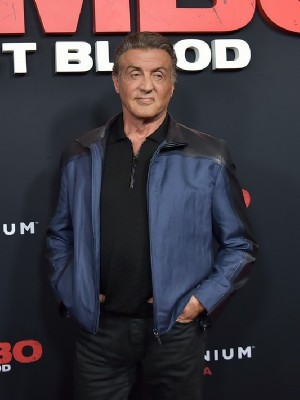 Movie Rambo Last Blood Premiered Sylvester Stallone Leather Jacket