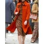 Anne Hathaway Modern Love Lexi Orange Coat