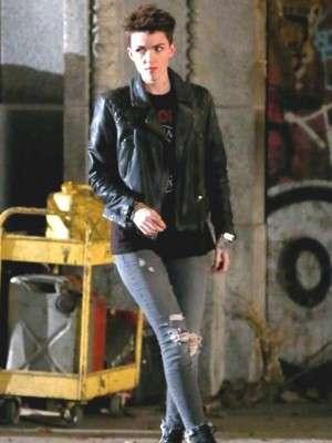 Ruby Rose Batwoman Black Biker Jacket