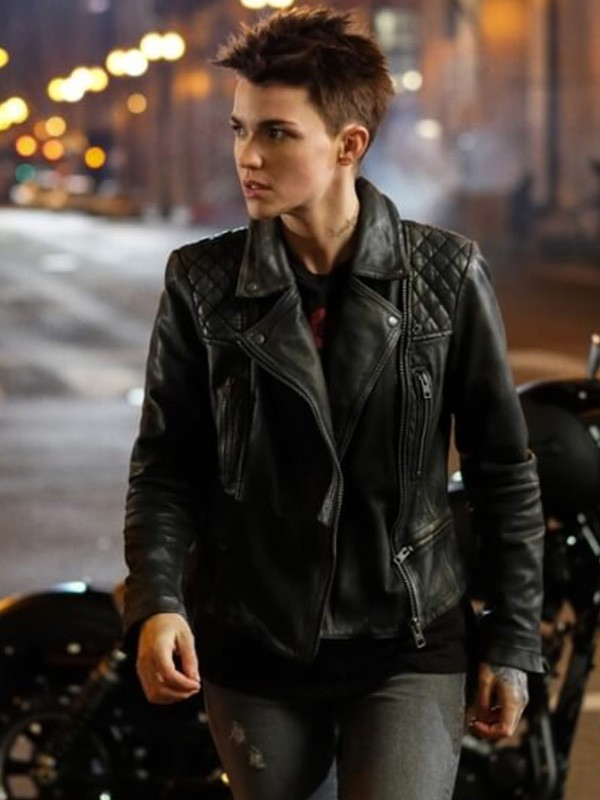 Batwoman Ruby Rose Biker Leather Jacket