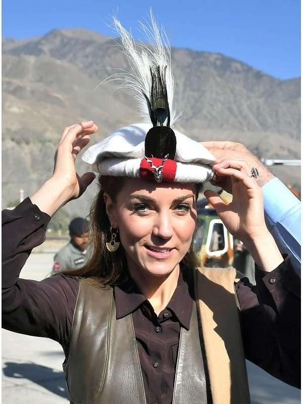 Catherine, Duchess of Cambridge Kate Middleton Chiatibo Glacier Pakistan Brown Leather Vest (1)