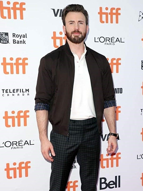 Chris Evans at an event for Knives Out (2019)