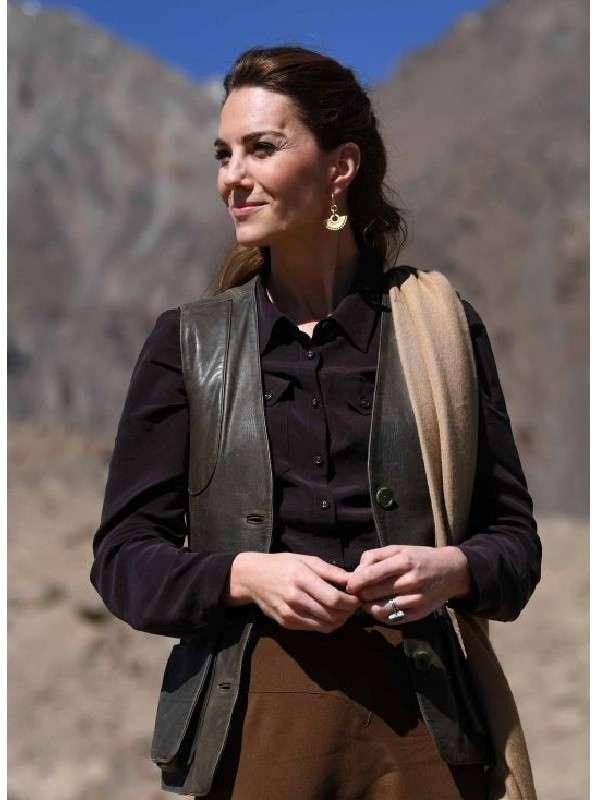 Kate Middleton Catherine Leather Vest