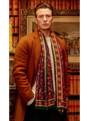 Knives Out Ransom Drysdale Chris Evans Wool Coat